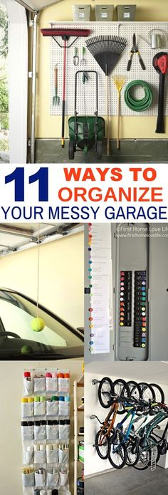 Garage Hacks: 11 Ways to Organize With DIY Projects These 11 Garage Organization And DIY Hacks Are Life Savers! I love how easy and creative the color coded breaker and peg board ideas are! Garage Organization Systems, Garage Storage Solutions, Room Organization, Storage Ideas, Diy Hacks, Garage Wall Shelving, Diy Garage Storage, Storage Racks, Shop Storage