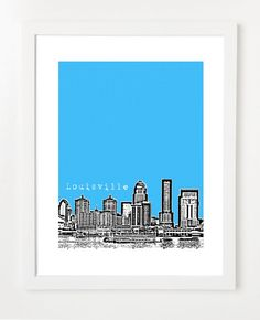 have a little section of skyline prints of places I've lived...when I've lived more places :)