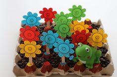 Filléres fejlesztőjáték - Virágoskert tojástartóból