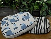 Hand printed dog beds. #dog beds