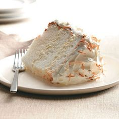 Orange-Coconut Angel Food Cake Recipe Everyone who tries this luscious cake loves it, even those who aren't watching their weight. I have several cake recipes, but this is my favorite. via Orange-C. Just Desserts, Delicious Desserts, Yummy Food, Dessert Healthy, Coconut Angel Food Cake Recipe, Cupcakes, Cupcake Cakes, Cake Recipes, Dessert Recipes