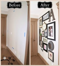 Lookie What I Did: Our Picture Gallery Wall - some really cute ideas!