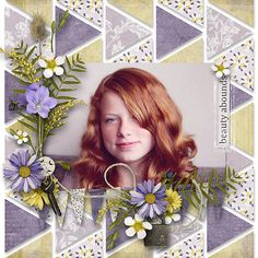 Wildflower Mini Kit by Etc by Danyale #  July Template challenge by Chloe