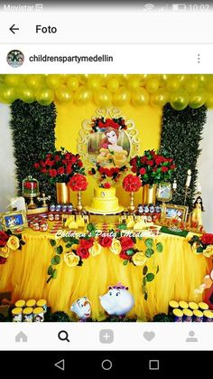 Sincere sponsored quinceanera party themes visit this web-site Beauty And Beast Birthday, Beauty And The Beast Theme, Beauty And Beast Wedding, Beauty Beast, Princess Belle Party, Disney Princess Birthday, 2nd Birthday Parties, Birthday Party Decorations, Girl Birthday