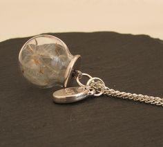 Ketten lang - Silberne Pusteblume Kette wish Anhänger - ein Designerstück von Mirakel1807 bei DaWanda