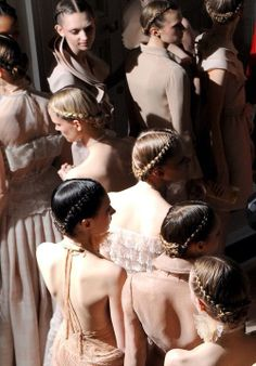Backstage at Valentino S/S 2011.