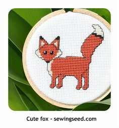 "Free Fox, ""Hugs n Kisses"", and Converse shoe cross stitch pattern"