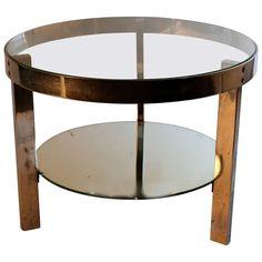 Circa 1928 Donald Deskey Treitel Gratz Moderne Steel and Glass Coffee Table Furniture, Glass Coffee Table, Mirrored Glass, Table Furniture, Table, Objects Design, Glass, Bauhaus Furniture, Period Furniture