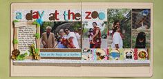 """""""A Day at the Zoo"""" scrapbook layout by Smitha Katti for Creating Keepsakes magazine. #scrapbook #scrapbooking #creatingkeepsakes"""