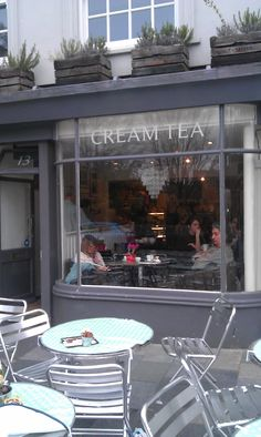"""""""Cream Tea"""" lovely little place in Brighton, England. Pic by Hiphopteashop on his tea blog."""