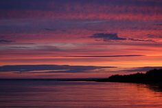 The summer sunset in Hay River Northwest Territories looks like a painting!