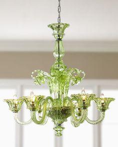 Beautiful green chandelier