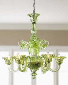 Beautiful green chandelier