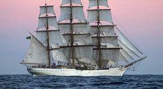 O belo Cisne Branco. Navio-Veleiro da Marinha brasileira
