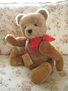 In my ETSY Shop: Large and Lovely! ~ Hermann Vintage 1980s Mohair Teddy Bear ~ 16 Inches ~ All IDs