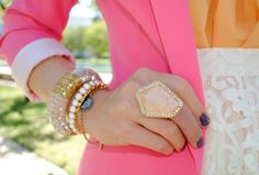 statement ring + spring colors
