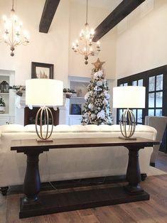 restoration hardware lamps & table
