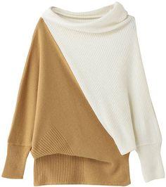 bi color sweater / ShopStyle: GALLARDAGALANTE 配色アンゴラニット