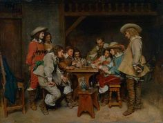 Giacomo Ceruti - Evening at the Piazza Theodor Rombouts - Card Players Steven Spurrier - The Card Game Jean-Louis Ernest Meissonier - Game of Piquet: Innocents and Card Sharpers Mary Cameron - Card Players Valentin de Boulogne - Cardsharpers Jan Olis - Elegant Company Playing Cards Norman Garstin…