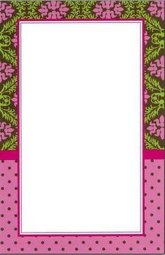 BORDES Y MARCOS - Tita K - Álbumes web de Picasa Printable Recipe Cards, Printable Art, Printables, Scrapbook Frames, Scrapbook Paper, Scrapbooking, Cute Frames, Picture Frames, Boarders And Frames