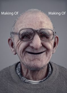 Smile at all ages - Making Of, Reza Abedi on ArtStation at https://www.artstation.com/artwork/NaAQP