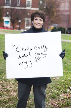 Project Unbreakable was created in October of 2011 by Grace Brown. Grace works with survivors of sexual assault, photographing them holding a poster with a quote from their attacker. Grace has photographed about three hundred people and has received over a thousand submissions. TIME magazine has also named it one of the top 30 Tumblr blogs to follow.