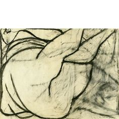 William Scott Nude, Charcoal on paper Life Drawing, Drawing Sketches, Painting & Drawing, Art Drawings, Silverpoint, Outsider Art, Art World, Illustration, Paper Art