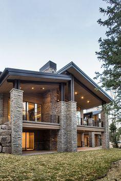 Modern Exterior House Designs, Modern Architecture House, Dream House Exterior, Modern House Design, Architecture Design, Modern House Styles, Architect Design House, Villa Design, Exterior Design