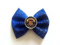 Harry Potter Hogwarts Crest Hair Bow  by MeOhMine on Etsy, $8.00