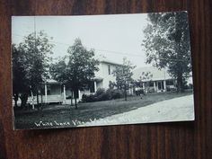 Whitehall Michigan RPPC Postcard View of White Lake Villa