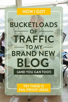 Wondering  how to get traffic to your new blog, exponentially grow you audience and build  authority without spending a single cent? Follow these 13 tips that helped me  increase traffic and grow my blog by bucketloads. These will work even if  you're brand new! #4 is a absolute must! #bloggingtips #newblogger Make Money Blogging, How To Make Money, Blogging Ideas, Earn Money, Saving Money, News Blog, Blog Tips, Blog Online, Like Facebook