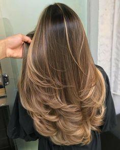 Haircuts For Long Hair, Long Hair Cuts, Straight Hairstyles, Women Haircuts Long, Layered Haircuts, Brown Hair Balayage, Hair Highlights, Balayage Straight, Long Layered Hair