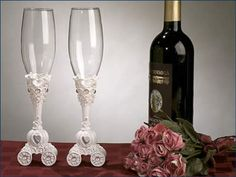 Youll be able to proudly lift your glass and make a toast with these beautiful Butterfly Theme Toasting Glass Set! Each set contains 2 toasting glasses, one for each of the lucky couple. Each toasting. Wedding Toasting Glasses, Wedding Flutes, Wedding Favors, Toasting Flutes, Wedding Ideas, Wedding Inspiration, Wedding Reception, Party Favors, Wedding Stuff