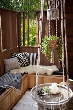 Love the fold down shelf!! 7 Sneaky Solutions for Small Outdoor Spaces