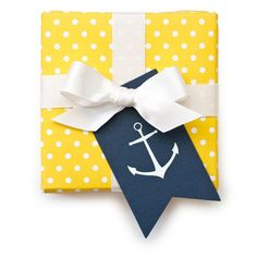 Anchor gift tag
