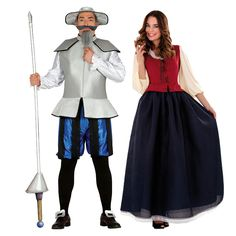 Déguisements Quichotte et Dulcinée #déguisementscouples #nouveauté2016