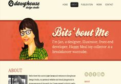 40 Groovy Examples of About Me Page Designs - love these!