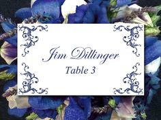 DIY Wedding Place Card Template Printable by PaintTheDayDesigns