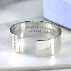 Personalised Silver Cuff