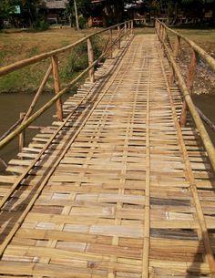 A bamboo bridge in Pai, Thailand
