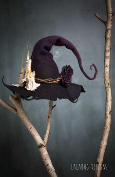 Moldes Halloween, Halloween Crafts, Halloween Decorations, Halloween Costumes, Halloween Witches, Pirate Costumes, Halloween Halloween, Larp, Felt Witch Hat