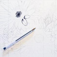 Started a new drawing �� • • • • #illustration #illustrator #art #artist #design #student #paint #painter #detail #biro #watercolour #mixedmedia #textile #surfacepattern #fineliner #artistcommunity #blackandwhite #hannahwillsart #floral #flower http://butimag.com/ipost/1566272127228120645/?code=BW8hDOFBw5F