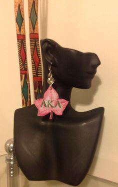 Alpha Kappa Alpha Sorority Inc AKA Ivy leaf by ElsHouseOfBamboo, $15.00