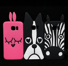 Lovely 3D Cartoon Dog / Zebra / Bunny Rabbit Soft Silicon Case for Samsung Galaxy S6 / S6 Edge Plus