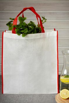 Sacoşă cumpărături Contrast bags by jassz din polipropilenă, 38 x 42 x 10 cm Burlap, Reusable Tote Bags, Contrast, Embroidery, Hessian Fabric, Jute, Canvas
