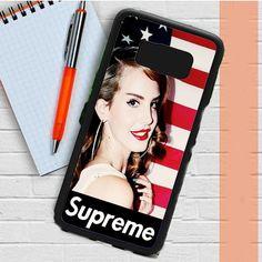 Lana Del Rey Supreme American Flag Samsung Galaxy S8 Plus Case Dewantary