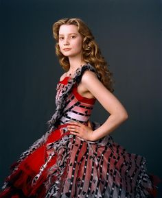 my twin, mia wasikowska, wearing a gorgeous dress from Alice in Wonderland...the costumes were so amazing