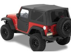 Bestop® Supertop® NX Soft Top with 2 Piece Soft Doors and Tinted Windows In Black Diamond