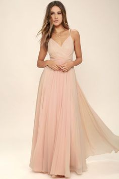 All great love stories start with the All About Love Blush Pink Maxi Dress! Woven poly shapes a pleated, surplice bodice, fitted waist, and cascading maxi skirt. Adjustable straps. Hidden back zipper/clasp.