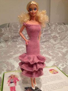 Doll s Ruffle Dress. Barbie Knitting PatternsDress ... 48b7982b8